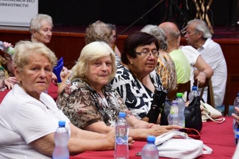 Eva a Vašek zpívali aktivním seniorům
